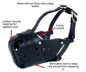 RedLine K9 Leather Agitation / Police Dog Muzzle