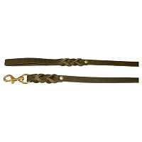 RedLine K9 Euro Leather Leash - Olive Green