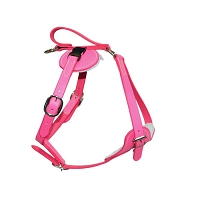RedLine K9 Padded Leather Quick Release Protection and Tracking Harness - PINK