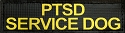 Non Reflective PTSD SERVICE DOG Badge 1.5