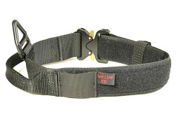 "RedLine K9 MaxTac 1.75"" Black Service ID collar with COBRA buckle"