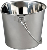 Stainless Steel Flatside Pails