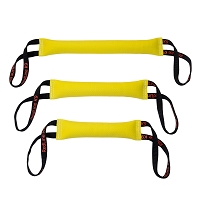 RedLine K-9 Floating Yellow Fire Hose Tug Toy - 2 Handles