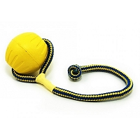 Starmark Yellow Swing 'n Fling DuraFoam Fetch Ball - Medium