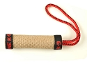 RedLine K9 Rolled Jute Tug Toy 5.5 Inch with Handle