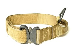 "RedLine K9 MaxTac 1.75"" Coyote Brown Service ID collar with COBRA buckle"