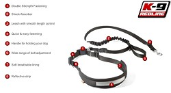 RedLine K9 Hands Free Jogging / walking leash